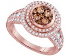 Cognac Diamond Fashion Ring 14K Rose Gold 1.51 cts. GD-95518