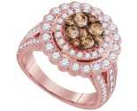 Cognac Diamond Fashion Ring 14K Rose Gold 2.00 ct. GD-95519