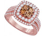 Cognac Diamond Fashion Ring 14K Rose Gold 1.51 cts. GD-95521