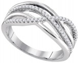 Ladies Diamond Fashion Band 10K White Gold 0.20 cts. GD-96590
