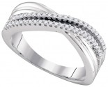 Ladies Diamond Fashion Band 10K White Gold 0.20 cts. GD-96592