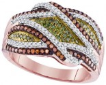 Mix Color Diamond Fashion Ring 10K Rose Gold 0.50 cts. GD-98551
