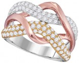 Diamond Fashion Band 14K Tri Color Gold 1.37 cts. GD-98679