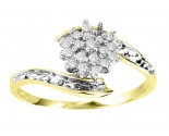 Ladies Diamond Ring 10K Two Tone Gold 0.15 cts. GS-21014