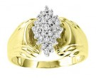 Ladies Diamond Ring 10K Two Tone Gold 0.10 cts. GS-21031