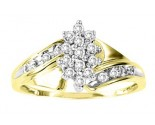 Ladies Diamond Ring 10K Two Tone Gold 0.25 cts. GS-21037