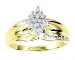 Ladies Diamond Ring 10K Two Tone Gold 0.15 cts. GS-21053