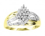 Ladies Diamond Ring 10K Two Tone Gold 0.20 cts. GS-21069