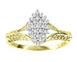 Ladies Diamond Ring 10K Two Tone Gold 0.25 cts. GS-21074
