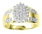 Ladies Diamond Ring 10K Two Tone Gold 0.16 cts. GS-21101