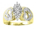Ladies Diamond Ring 10K Two Tone Gold 0.125 cts. GS-21104