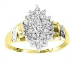 Ladies Diamond Ring 10K Two Tone Gold 0.2 cts. GS-21131