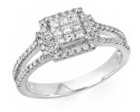 Ladies Diamond Fashion Ring 14K White Gold 0.65 cts. JRX-10R1304