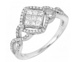 Ladies Diamond Fashion Ring 14K White Gold 0.70 cts. JRX-10R1310