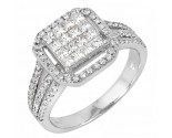 Ladies Diamond Fashion Ring 14K White Gold 1.05 cts. JRX-10R1312