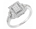 Ladies Diamond Fashion Ring 14K White Gold 0.80 cts. JRX-10R1339