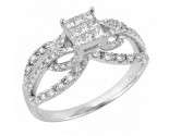 Ladies Diamond Fashion Ring 14K White Gold 1.00 ct. JRX-10R1347
