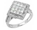 Ladies Diamond Fashion Ring 14K White Gold 1.55 cts. JRX-10R1354