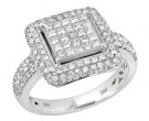 Ladies Diamond Fashion Ring 14K White Gold 1.70 cts. JRX-7R975