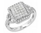 Ladies Diamond Fashion Ring 14K White Gold 1.55 cts. JRX-8R1090