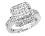 Ladies Diamond Fashion Ring 14K White Gold 1.17 cts. JRX-8R1094
