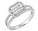 Ladies Diamond Fashion Ring 14K White Gold 0.80 cts. JRX-9R1204