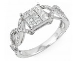 Ladies Diamond Fashion Ring 14K White Gold 1.15 cts. JRX-9R1292