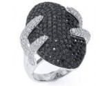 Ladies Diamond Fashion Ring 14K White Gold 3.65 cts. S-MR11306
