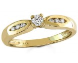 Ladies Diamond Ring 14K Yellow Gold 0.22 cts. S15-20