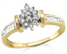 Ladies Diamond Ring 14K Yellow Gold 0.40 cts. S16-11