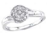 Ladies Diamond Ring 14K White Gold 0.35 cts. S16-21