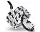 Ladies Diamond Snake Ring 14K White Gold 2.65 cts. S22-7