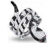 Ladies Diamond Snake Ring 14K White Gold 2.65 cts. S22-7 [S22-7]