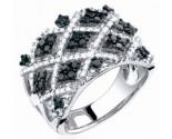 Ladies Diamond Anniversary Band 14K White Gold 1.25 cts. S23-3