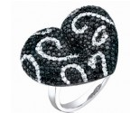 Ladies Diamond Heart Ring 14K White Gold 2.50 cts. S25-2
