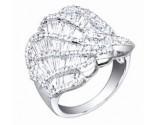 Diamond Cocktail Ring 14K White Gold 2.50 cts. S27-3