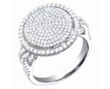 Ladies Diamond Cocktail Ring 14K White Gold 1.10 cts. S28-5
