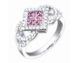 Diamond Fashion Ring 14K White Gold 1.05 cts. S33-6