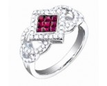 Diamond Fashion Ring 14K White Gold 1.00 cts. S33-9