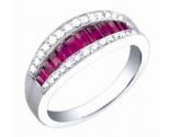 Diamond Fashion Ring 14K White Gold 1.25 cts. S34-5