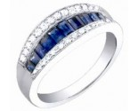 Diamond Fashion Ring 14K White Gold 1.30 cts. S34-9