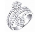 Ladies Diamond Fashion Band 14K White Gold 1.50 cts. S54-1