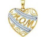 Diamond Mom Heart Pendant 10K Yellow Gold 0.10 cts. GD-55667