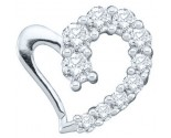 Diamond Heart Pendant 14K White Gold 0.18 cts. GD-35913