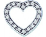 Diamond Heart Pendant 14K White Gold 0.37 cts. GD-39124