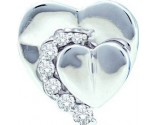 Diamond Heart Pendant 14K White Gold 0.21 cts. GD-45483