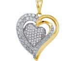 Diamond Heart Pendant 14K Yellow Gold 1.00 ct. GD-47883