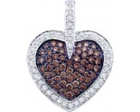 Diamond Heart Pendant 14K White Gold 1.00 ct. GD-48485