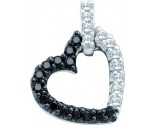 Diamond Heart Pendant 14K White Gold 0.26 cts. GD-51112