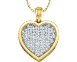 Diamond Heart Pendant 10K Gold 0.05 cts. GD-51600